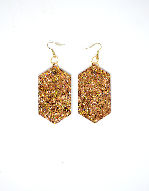 Copper Diamonds | Handmade Glitter Earrings