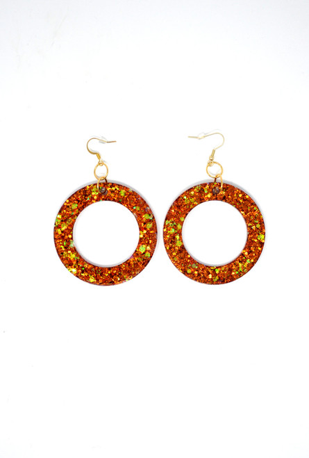 Carnelian Donuts | Handmade Glitter Earrings