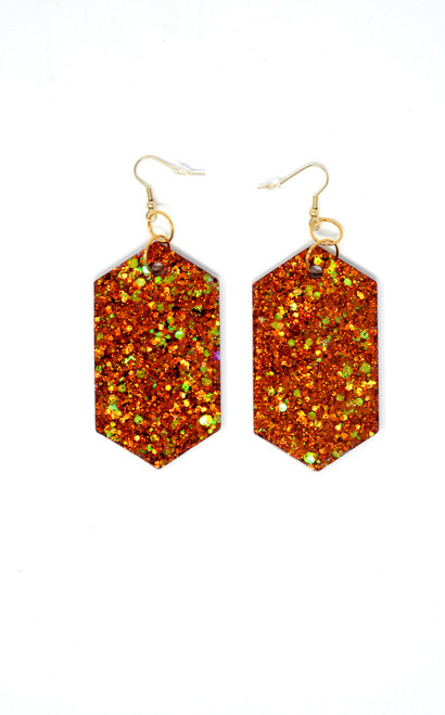 Carnelian Diamonds | Handmade Glitter Earrings