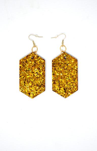Gold Diamonds | Handmade Glitter Earrings