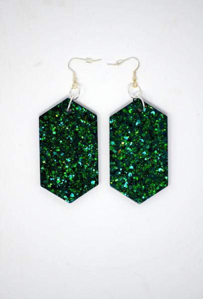 Emerald Diamonds | Handmade Glitter Earrings