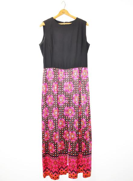 1970's Sleeveless Maxi Dress