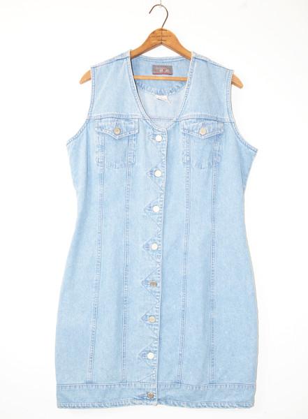 Early 2000's Light Wash Denim Mini Dress