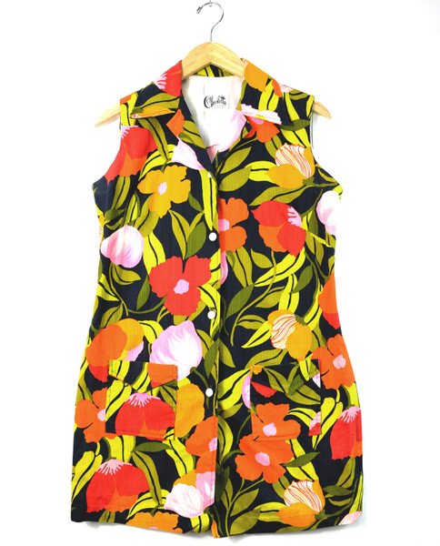 1960s-1970s Floral Shirtdress