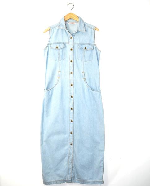 Denim Button-Up Maxi Dress