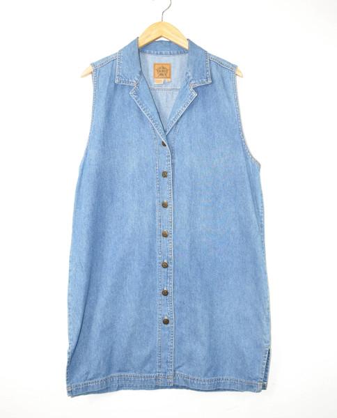 90's Denim Shirtdress