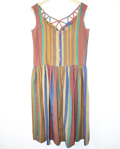 Vertical Stripe Sundress