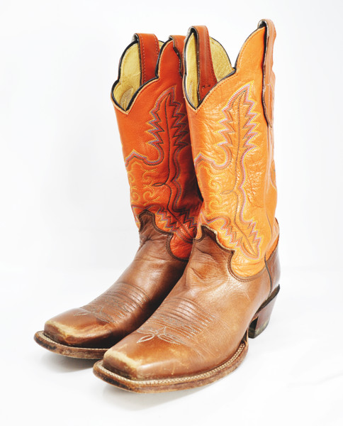 Western Boots with Multi-Colored Stitching