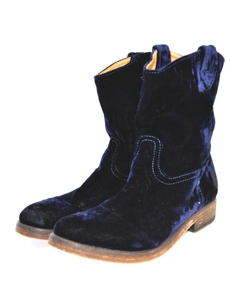 Blue Velvet Western Boots