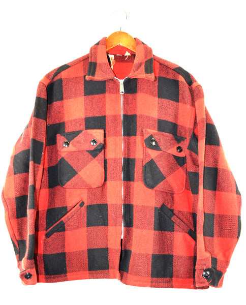 Zip Up Buffalo Plaid CPO Jacket