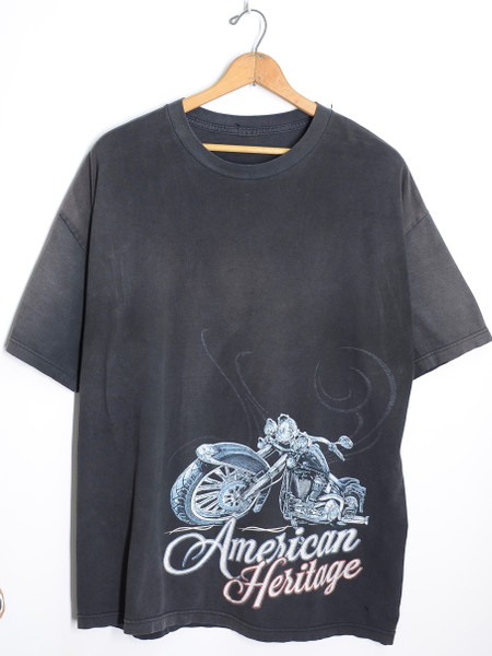American Heritage Classic Motorcycle Graphic T-Shirt Black | XXL