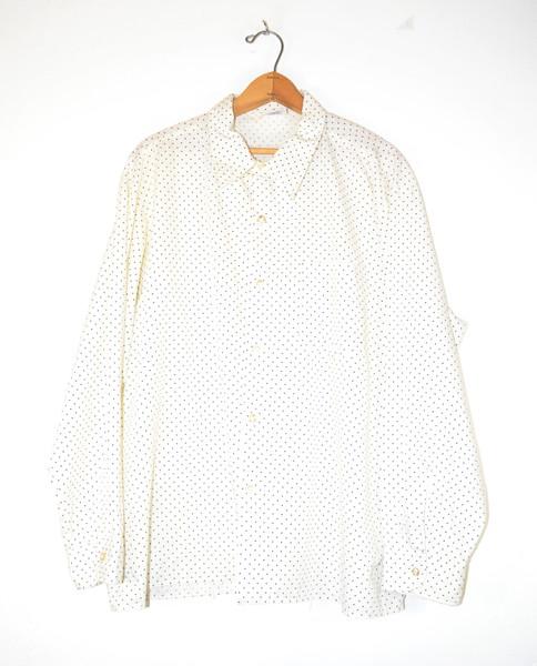 Long Sleeve Poly Blend Dot Pattern Shirt