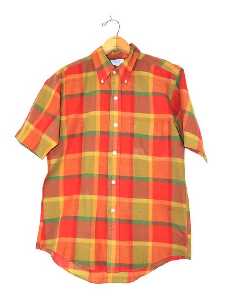 Made in Japan Perma Prest Short Sleeve Plaid Shirt
