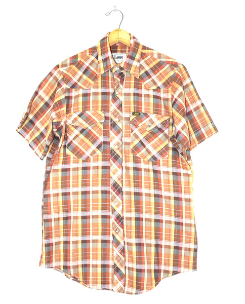 Lee Made in USA Pearl Snap Short Sleeve Western Shirt