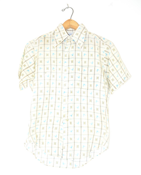 Short Sleeve Poly Blend Boxed Bird Shirt