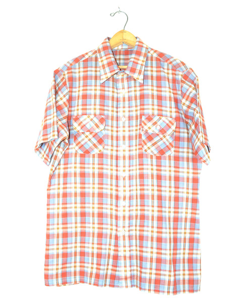 Levis Short Sleeve Two Pocket Plaid Shirt