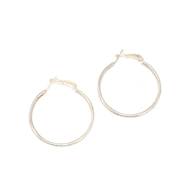 Sterling Silver Minimalist Hoop Earrings