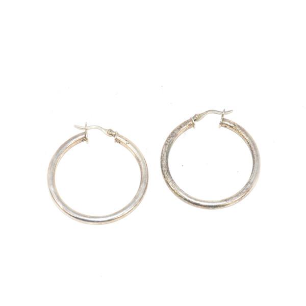 Sterling Silver Basic Hoop Earrings