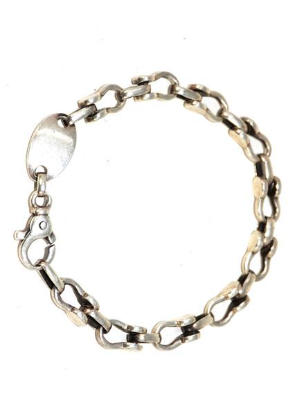 Sterling Silver Stirrup Chain Bracelet