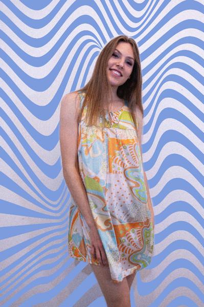 1960's Psychedelic Slip Dress