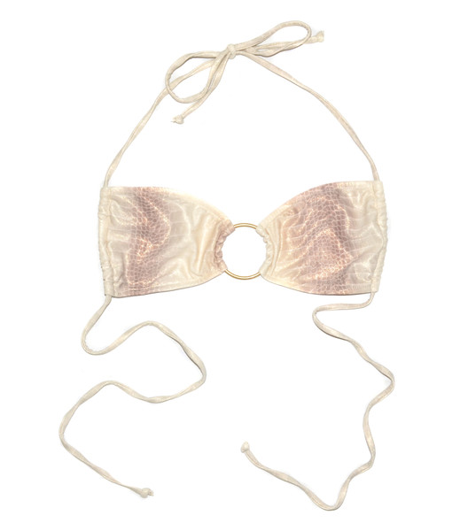 Snakeskin Bandeau Bikini Top