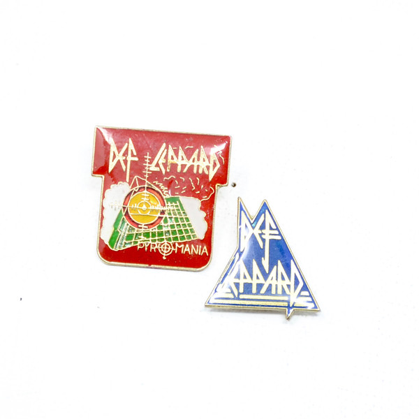 Def Leopard (2 Styles) Pyromania & Classic Logo Pins