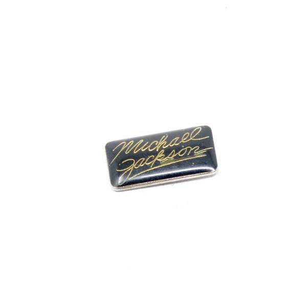 Michael Jackson Gold Signature Pin
