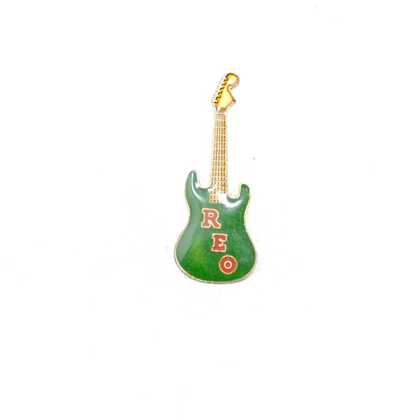 REO Speedwagon Green Guitar Pin
