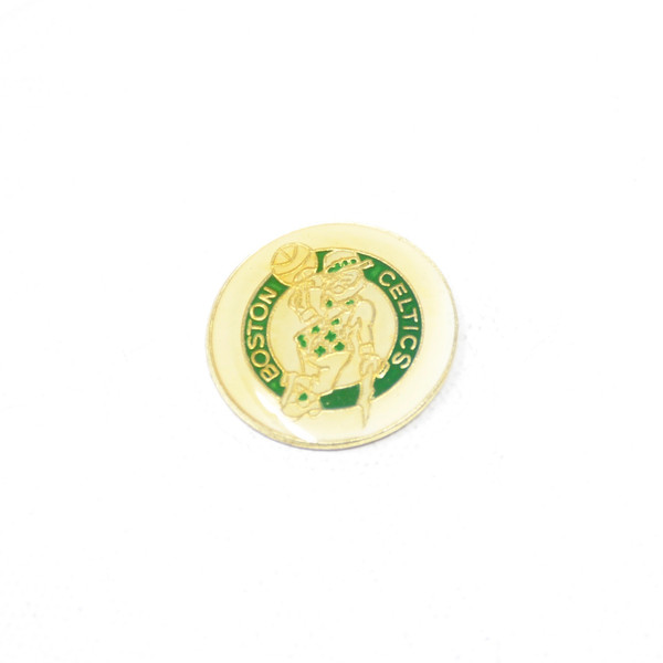 Boston Celtics Pin with Lucky the Leprechaun.