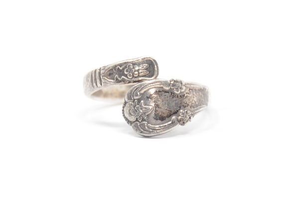 Sterling Spoon Wrap Ring Size 11 1/4
