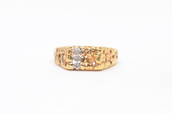 Gold Plated Ring with Marcasite