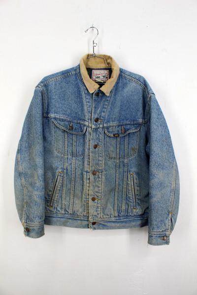 Lee Storm Rider Blanket Liner Light Wash Denim Jacket   Size M