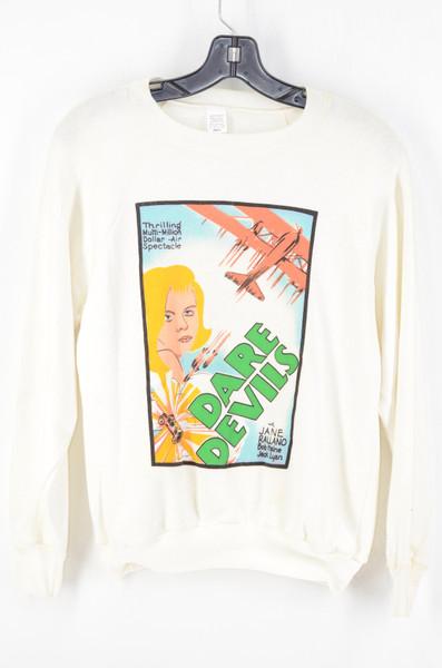 Deadstock USA Raglan Made Daredevils Aviator Long Sleeve Sweatshirt XS