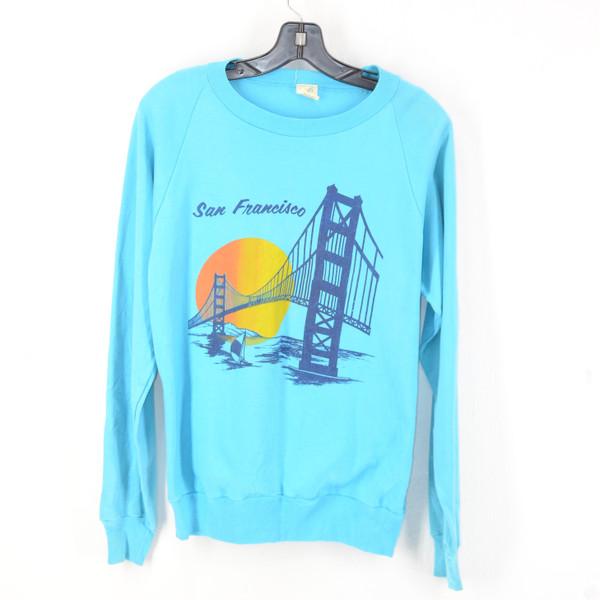Fantasy San Francisco Raglan 100% Cotton Crewneck Sweatshirt