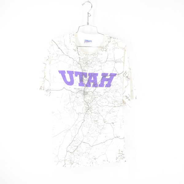 Allsport USA Made UTAH Mapped Graphic Print T Shirt Large