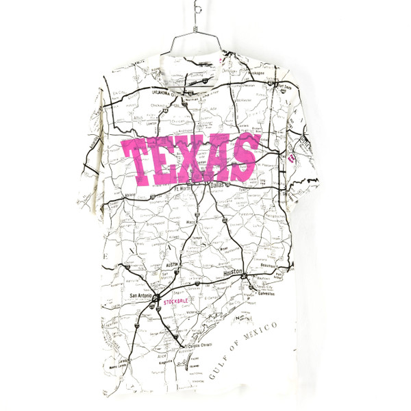 Allsport USA Made TEXAS Mapped Graphic Print T Shirt Large