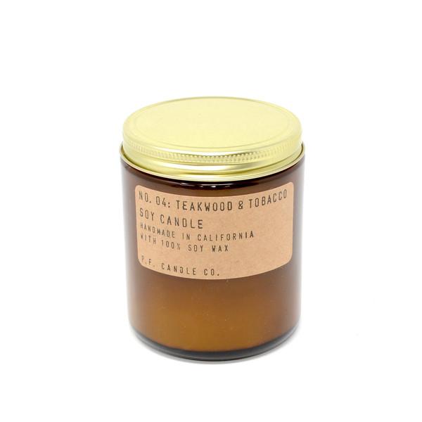 P.F. Candles CA - No. 04 Teakwood & Tobacco Soy Wax Candle