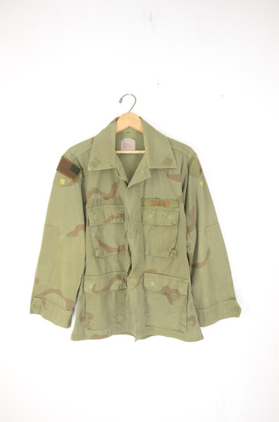 Over Dyed Desert Storm Rip Stop Camo Jacket. Size 42.