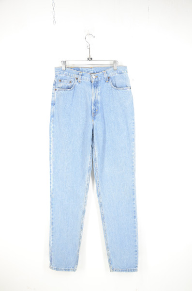 """1990s Levi's 512 Skinny High Waist Tapered Leg Light Wash Jeans. Made in USA. 30"""" Waist"""