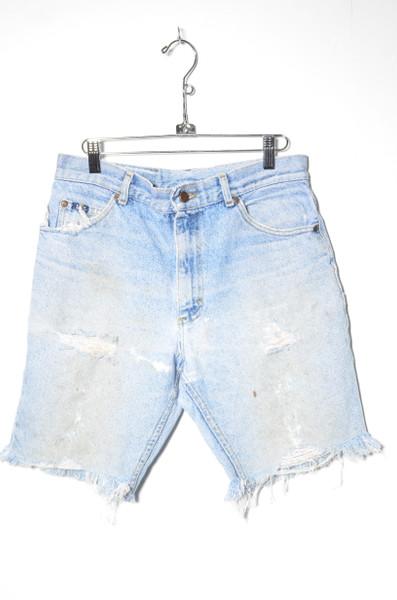 "Lee Light Wash Distressed Cutoff Denim Shorts 30"""