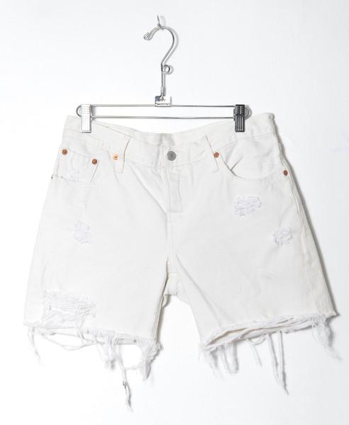 "Levis 501 Distressed Cutoff Denim Shorts 30"""
