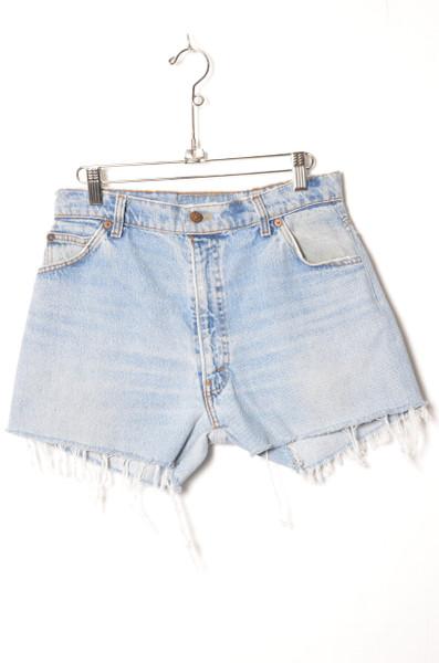 "Levis Orange Tab Light Wash Cutoff Denim Shorts 29"""