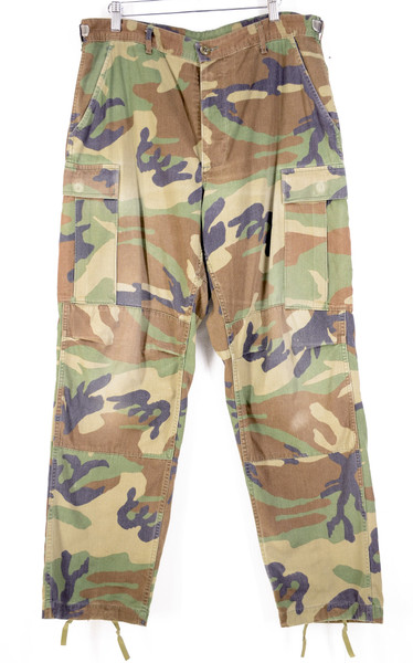Woodland Camo Military Cargo Pants