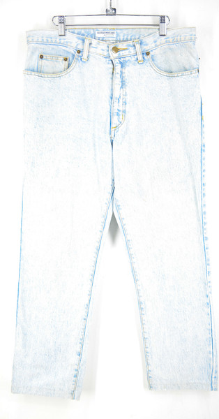 "Guess Made in USA Straight Leg Light Wash Denim 34.5""x27"""