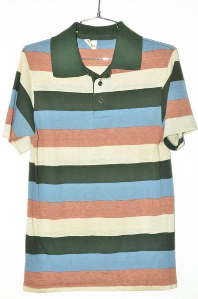 Burnout Triple Tone Striped Polo Shirt | 36 Small