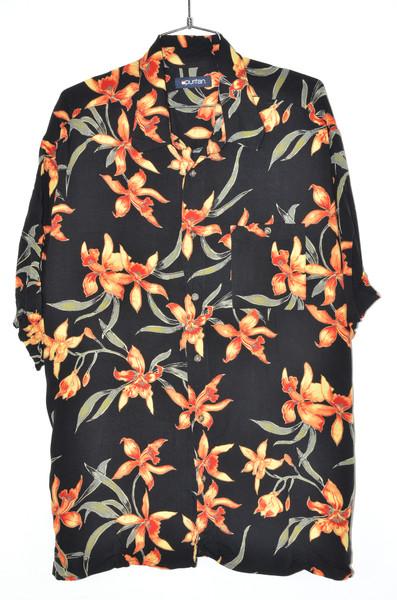 100% Viscous Rayon Sunset Orchid Hawaiian Shirt | 54 XXXL