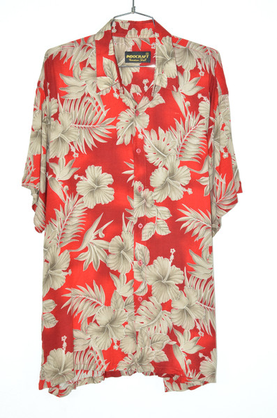 Red Burst & Champagne Orchid Hawaiian Shirt | 54 XXXL