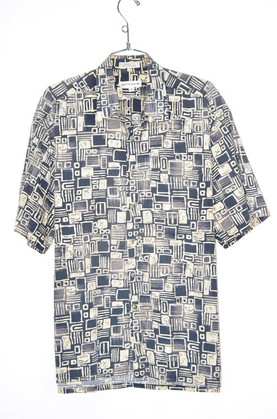 100% Cotton Tiki Blue Hawaiian Shirt | 48 XL