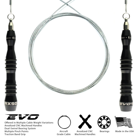 Rx EVO Speed Rope - The worlds most technically advanced jump rope.