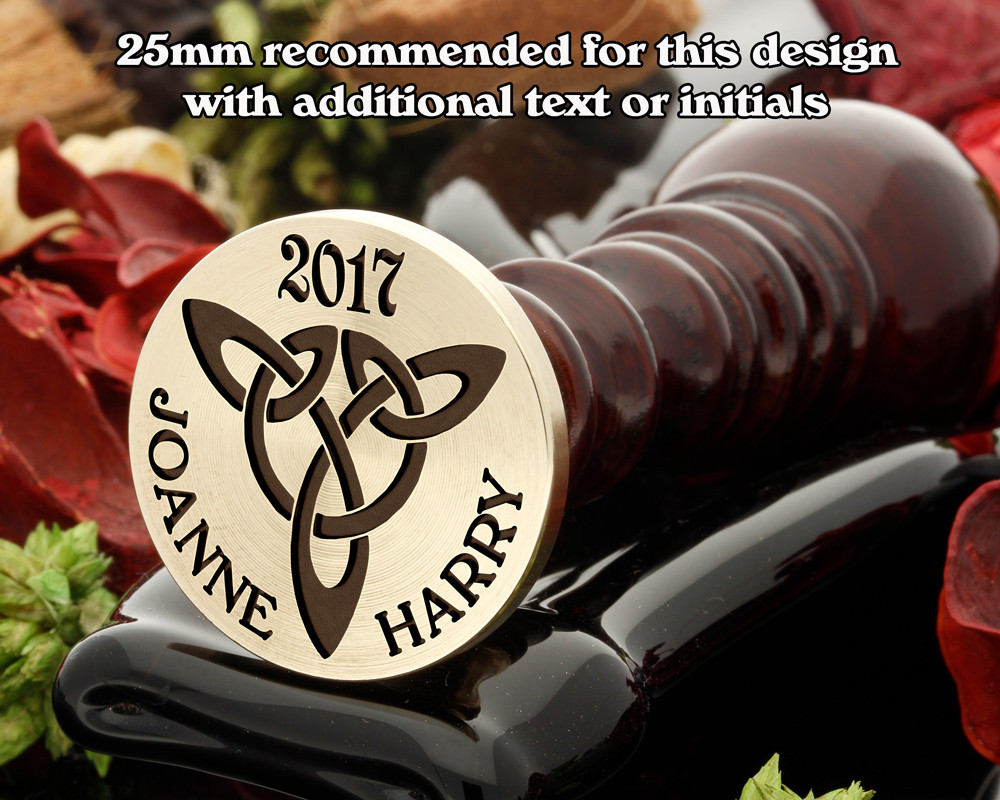 Celtic D2 Wax Seal, text or initials extra cost